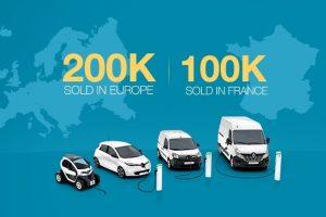 2019 - 200 000 véhicules électriques Renault vendus en Europe