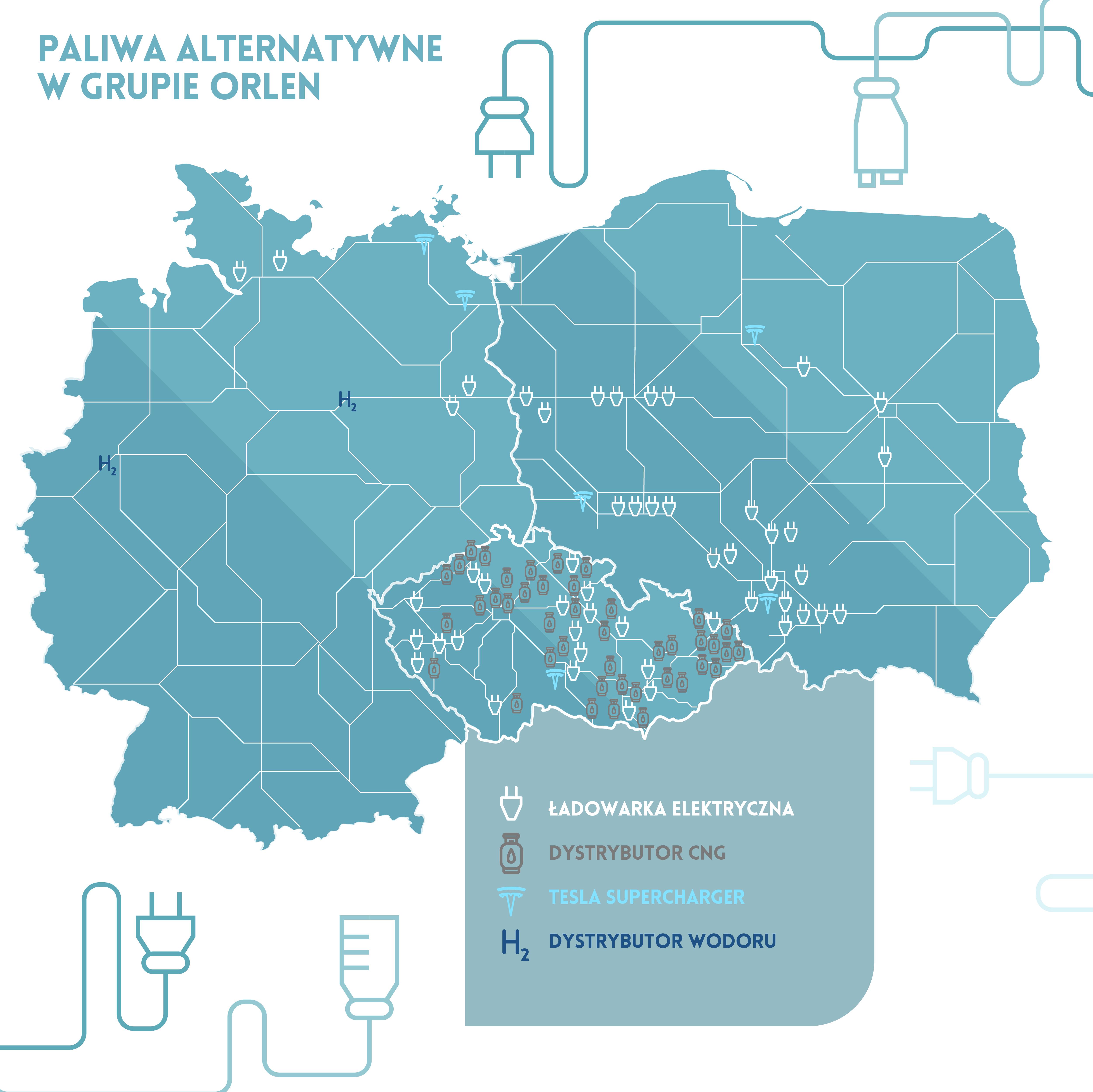 Stacje ładowania pojazdów elektrycznych Grupy #Orlen zlokalizowane są już w trzech krajach